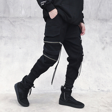 New 2018 Mens Fashion Autumn Summer Cotton Pants Hip Hop Elastic Waist