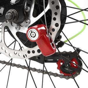 Image 4 - קטנוע דיסק בלם מנעול נגד גניבת אבטחת קטנוע גלגלי מנעול שרשרת טבעת מנעול חשמלי אופני קטנוע אופנועים
