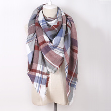 za Brand Winter 2015 Tartan Scarf Cashmere Plaid Scarf cuadros New Designer Acrylic Basic Shawls Women big size Scarves