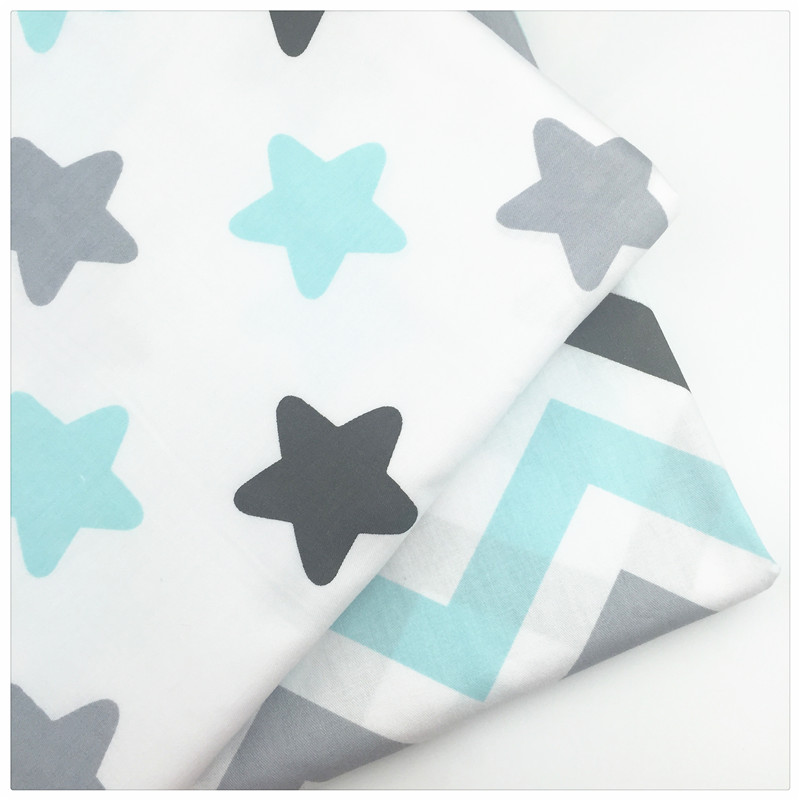 Material de Costura Artesanal DIY Telas para Patchwork Estrellas Wave Imprimir 1