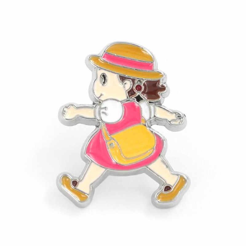 حار جديد اليابان أنيمي ميازاكي هاياو توتورو شارة كيكي خدمة التوصيل اكسسوارات تأثيري Syaomei شارة بروش معدني فتاة هدية
