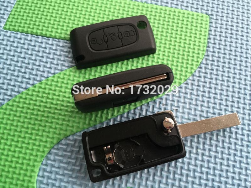 3 Button Key Fob Remote Case Light Symbol For CITROEN C4 Picasso C5 C6 25