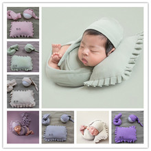 AuFertile Soft Baby Photograpy props set with Caps Blanket