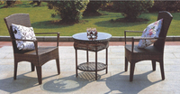 2016 Outdoor Wicker Furniture Sets PE rattan chair 2chairs and 1 table