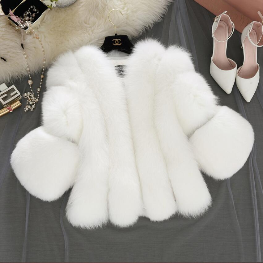 New Fashion Faux Fur Coat Winter Women Casual Faux Fox Fur Jackets Winter Jacket Women top