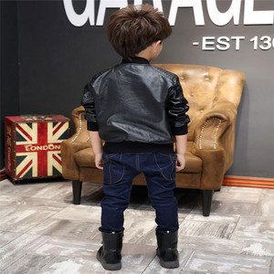 Image 5 - Kleidung für Kinder Neue Baby Casual Faux Leder warme Jacke Kinder Outwear Für Baby Mädchen und Jungen Jacke Baby Mode jacke