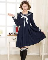 2015 Spring And Summer New Beautiful Fashion Brief Solid Sailor Suit Japanese School Uniforms Preppy Style