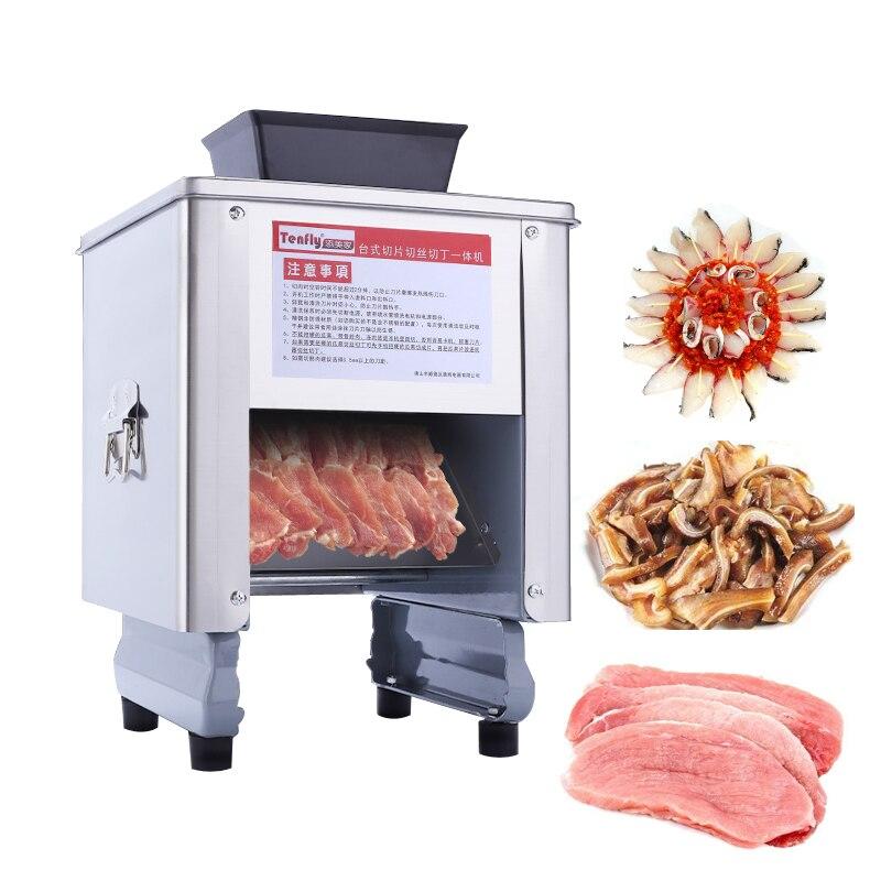 Máquina de cortador de carne elétrico moedor de carne automática máquina de cortar legumes fatia de peixe Casa comercial de Alimentos Cortador dicing 220 V KL-85