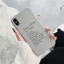 For Coque iPhone 6 Bonbon Chocolat Letter Case XS Max XR X 7 8 Plus Soft TPU Back Cover Capa Funda
