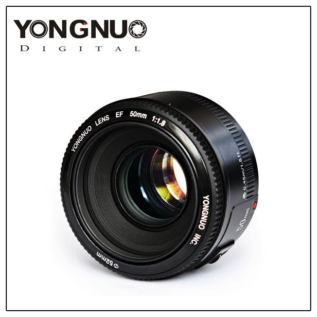 YONGNUO Lens YN50mm f1.8 YN EF 50mm f/1.8 AF Lens YN50 Aperture Auto Focus for Canon EOS 60D 70D 5D2 5D3 600d Canon/Nikon DSLR yongnuo yn 50mm lens fixed focus lens ef 50mm f 1 8 af mf lense large aperture auto focus lens for canon dslr camera pouch bag