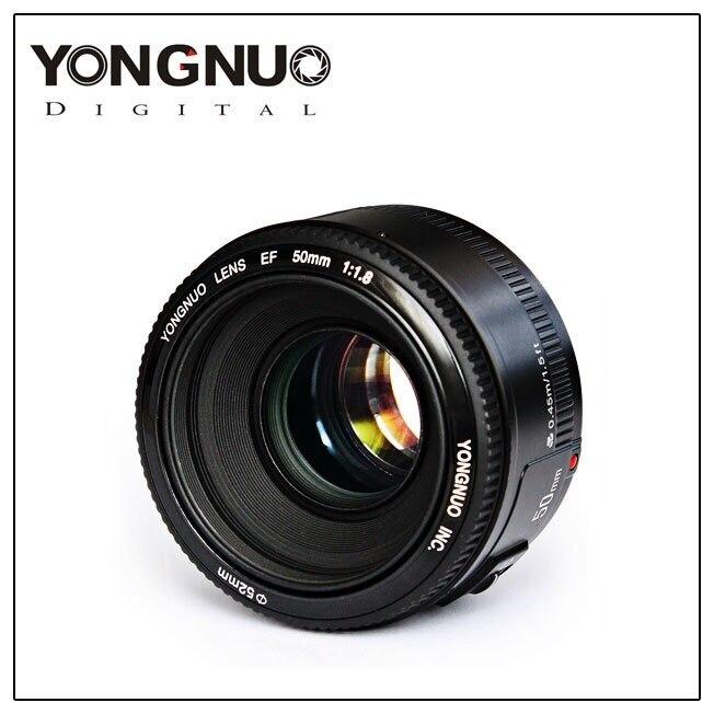 YONGNUO objectif YN50mm f1.8 YN EF 50mm f/1.8 AF objectif YN50 ouverture mise au point automatique pour Canon EOS 60D 70D 5D2 5D3 600d Canon/Nikon DSLR