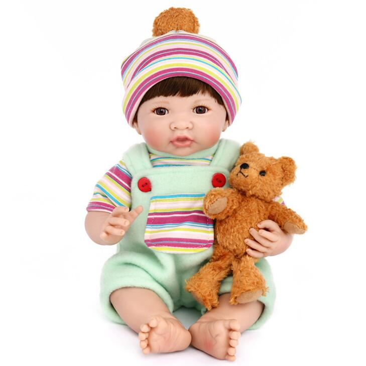 14inch silicon reborn babies full body cloth body children fashion doll bebe alive reborn bone babies realistic silicone reborn yamaha silicon cloth m