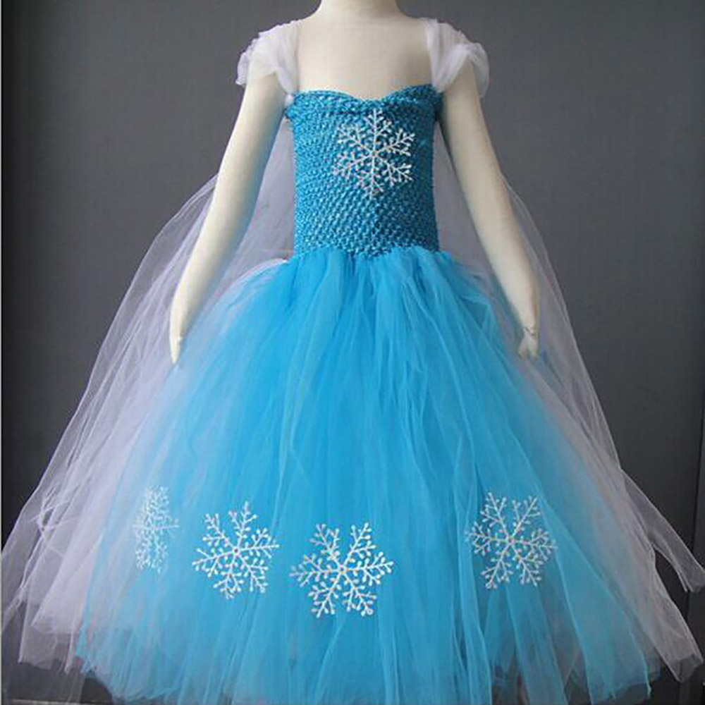 2018 New Fashion Custom Anna Elsa Girls Dresses Children Dress Kids Party Vestidos Baby Cinderella Cosplay Dress Pincess Dresses
