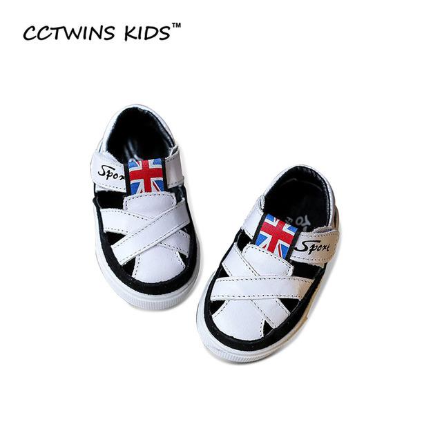 CCTWINS CRIANÇAS Menina do Verão 2017 Da Marca Oco Praia Andando Sandália Preto Criança Baby Boy Moda Couro Genuíno Sapato Criança B694