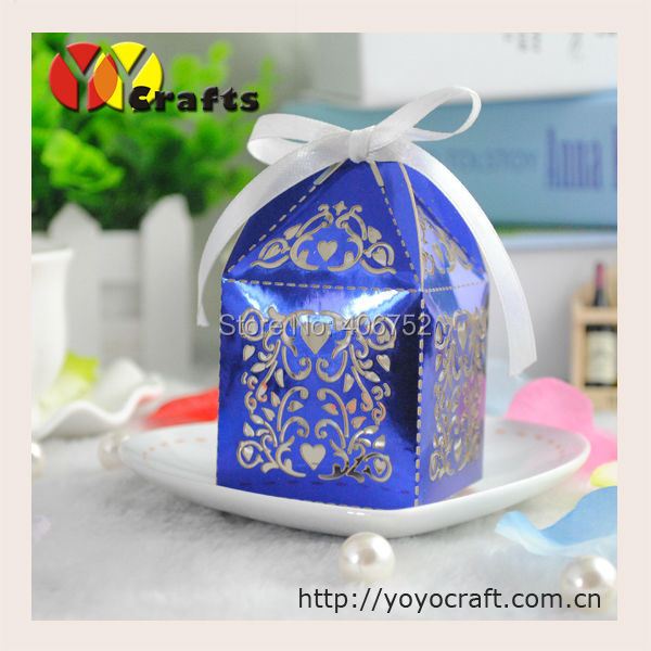 Hot Wedding Favors Box Royal Blue Souvenir Candy Gift Whole Made In China Bags Wring Supplies From Home Garden On Aliexpress