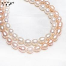 6-7mm Fashion Cultured Rice Freshwater Pearl Beads natural Pearl Jewelry Finding Pearl Beads DIY Accessories Pearl Loose Beads 10pcs 100% natural pearl full hole cultured freshwater white rice pearl beads 7 8 mm