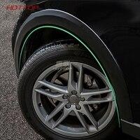 Black Wheel Eyebrow Protector/mudguards Sticker Universa for Audi Q5 2009 2018 car styling 10pcs