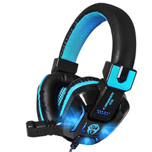 Wholesale Canleen R8 Stereo Surround Heavy Bass Wired Gaming Headset LED Luminous Big Headphones with Microphone for Computer PC Gamer