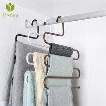 Шкаф для хранения S Тип штанов вешалка для брюк Многоуровневая Нержавеющая сталь Одежда для хранения полотенец шкаф Экономия пространства