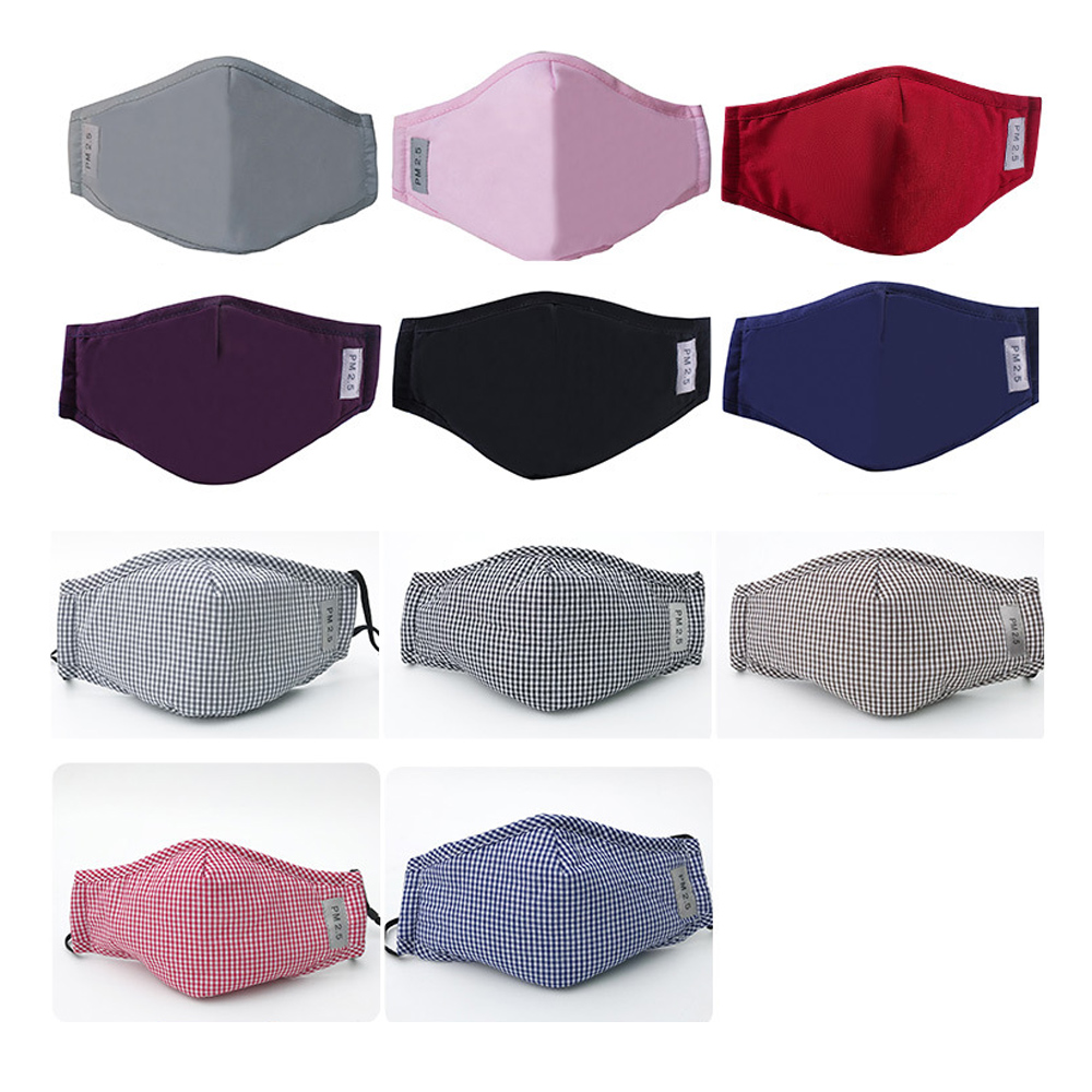 1Pcs Multi Color Dust Mask Activated Carbon Filter Insert Anti Dust Pollution Cotton Face Mouth Mask PM2.5 Mask