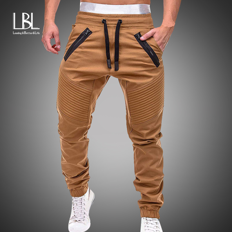 Men Joggers Pants 2019 Autumn New Mens Sweatpants Leisure Cotton Mens Joggers Casual Sweatpants Men's Workout Slim Fit Trousers