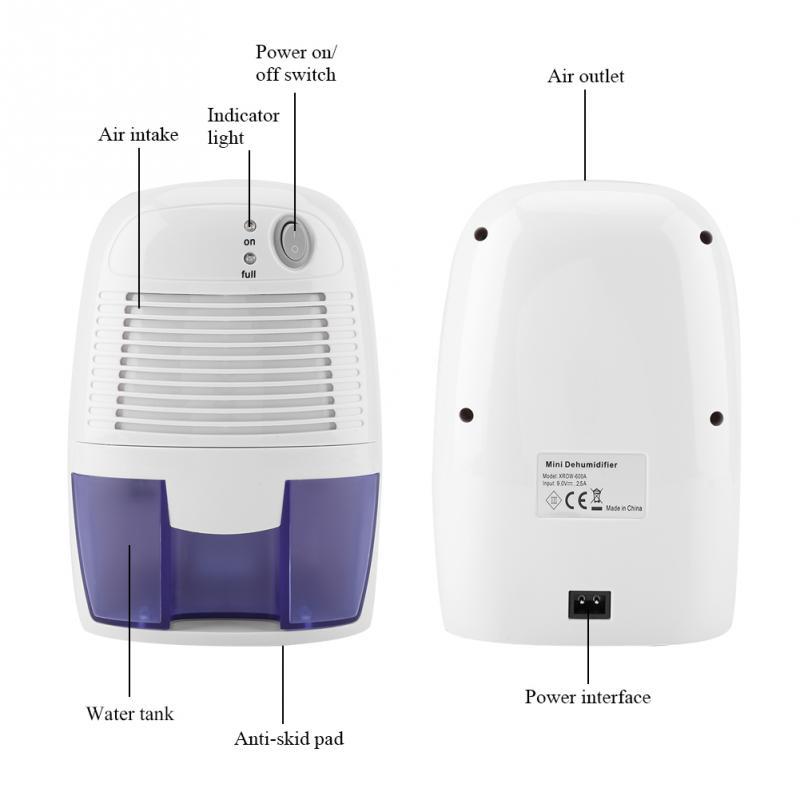 Nouveau Mini déshumidificateur, déshumidificateur absorbeur d'humidité domestique, sèche-linge, absorbeur d'humidité 100 V-240 V dehunmidifier Q021 - 3