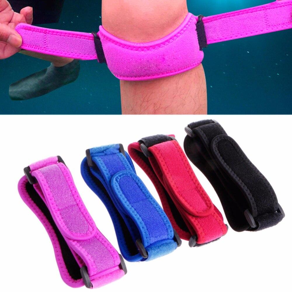 Adjustable Sport Knee Wrap Protector Gym Patella Tendon Support Brace Strap Band
