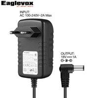 18 V 1A Puissance Adaptateur de Center Négatif Silencieux Technologie pour Guitare Pédale D'effet UE Plug F Type 100-240 V Convertisseur Alimentation