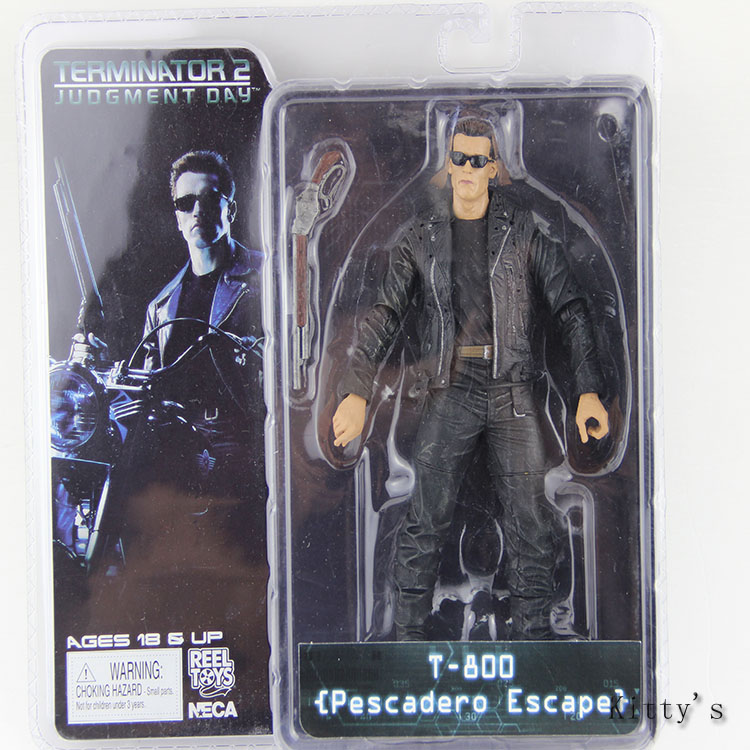 Free Shipping 718cm NECA The Terminator 2 Arnold Action Figure T-800 Pescadero Escape PVC Figure Model Toy #ZJZ004 new 1333cm pvc american film terminator t 800 arnold schwarzenegger doll action figure adult model toy