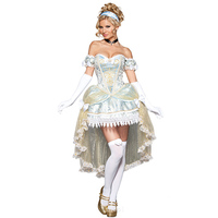 White Gothic Medieval Palace Sexy Princess Costume Carnival Role Play Outfits Fancy Dress Adult Halloween Costumes For Women