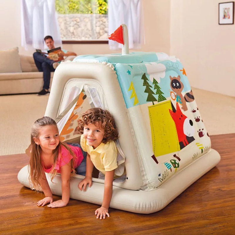 Environmentally Healthy Cartoon Inflatable Game House Baby Toys Indoor Tent Playing children's tent game inflatable cylinder gymex happy baby 121009