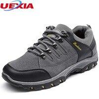UEXIA Haute Qualité Casual Chaussures Hommes Respirant Hommes Chaussures Supérieure Semelle Extérieure En Caoutchouc Durable Dentelle-up Chaussures Non-Slip Zapatos Hombre