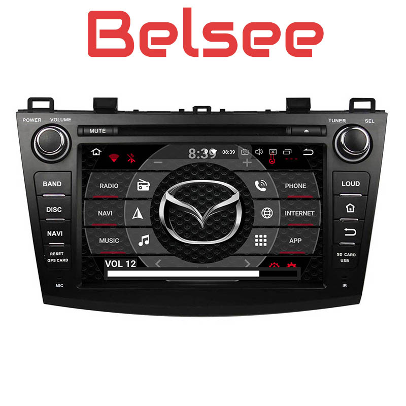 Belsee Octa Core PX5 Ram 4G+64G Car DVD Multimedia System Android 9.0 Head Unit Stereo <font><b>Radio</b></font> HD for <font><b>Mazda</b></font> <font><b>3</b></font> 2009 <font><b>2010</b></font> 2011 2012 image