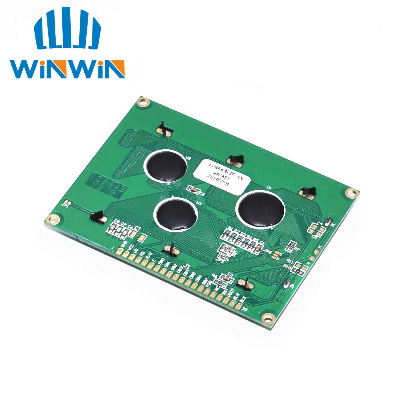 128*64 ドットの lcd モジュール 5 5v ブルースクリーン 12864 lcd ST7920 パラレルポート LCD12864
