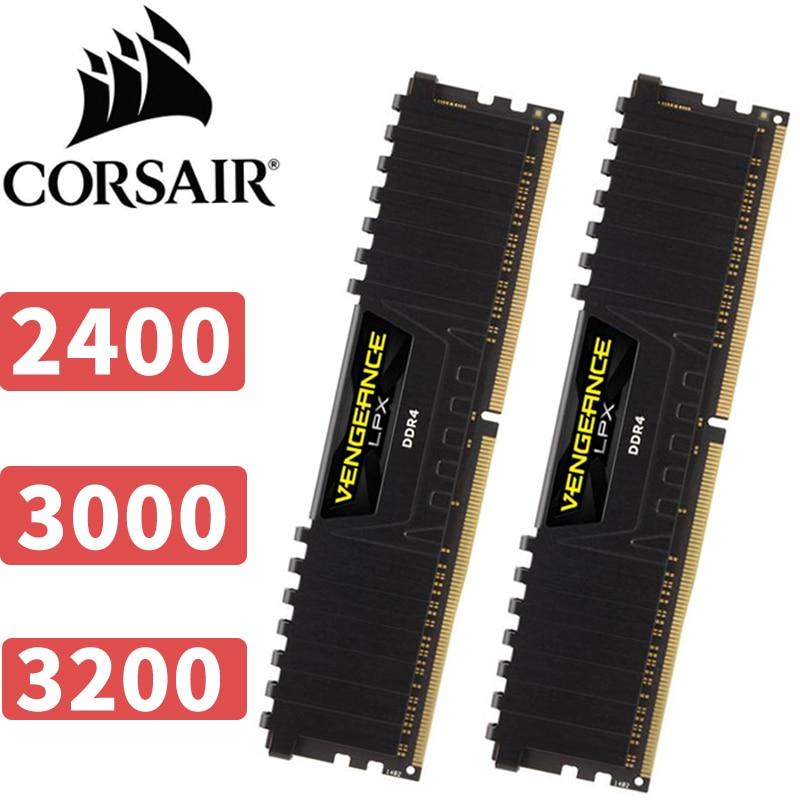 CORSAIR Vengeance LPX PC Desktop 8GB DDR4 2400 3200 3000 8G 2400Mhz 3000Mhz 3200Mhz ram Module memory corsair vengeance lpx 8gb 8g ddr4 pc4 3000mhz pc computer desktop ram ecc memory 8gb ram