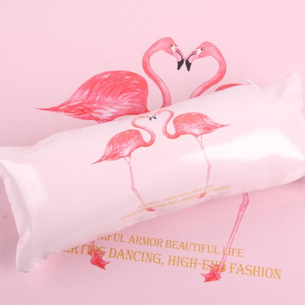 Handauflagen Angnya Nail Art Hand Kissen Kissen Set Nagellack Halter Weichen Pu Leder Schwamm Arm Rest Rosa Flamingo Design Salon Maniküre Hohe QualitäT Und Preiswert Schönheit & Gesundheit