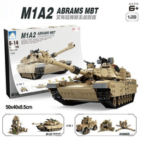 1463pcs Military Theme Tank Legos Building Blocks M1A2 ABRAMS MBT KY10000 1 Change 2 Toy Tank Models Toys Gift for children