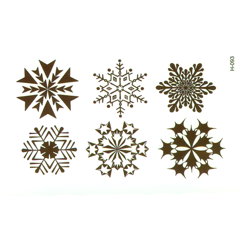 Snowflake Waterproof Temporary Tattoos Sticker Tatuagem Fake Tattoo Body Art Tatuajes Temporales Henna Tattoo Sleeves Couronne