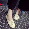 2016 НОВАЯ Мода Женская Обувь Старинные Круглый Носок Скольжения на Плоской Подошве Случайные Цветочный Принт Женские Туфли