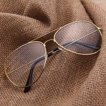 Aviator Clear Glasses Spectacle Frame Sunglasses Gold Eyewear Women Sunglasses Brand Designer Glasses Shades lunette