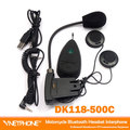 DK118-500c 1pcs MP3 FM Radio Function Full duplex motorcycle bluetooth intercom real-time wireless bluetooth helmet interphone