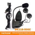 DK118-500c 1pcs MP3 FM Radio Function Full duplex motorcycle bluetooth intercom real-time wireless bluetooth helmet interphone