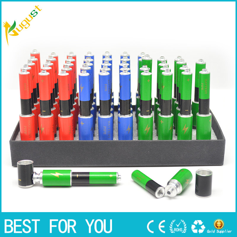 1pc 2016 Hot sell Multicolor pipe for gift small metal pipe for Tobacco and grinder accessary cool PIPE to somke