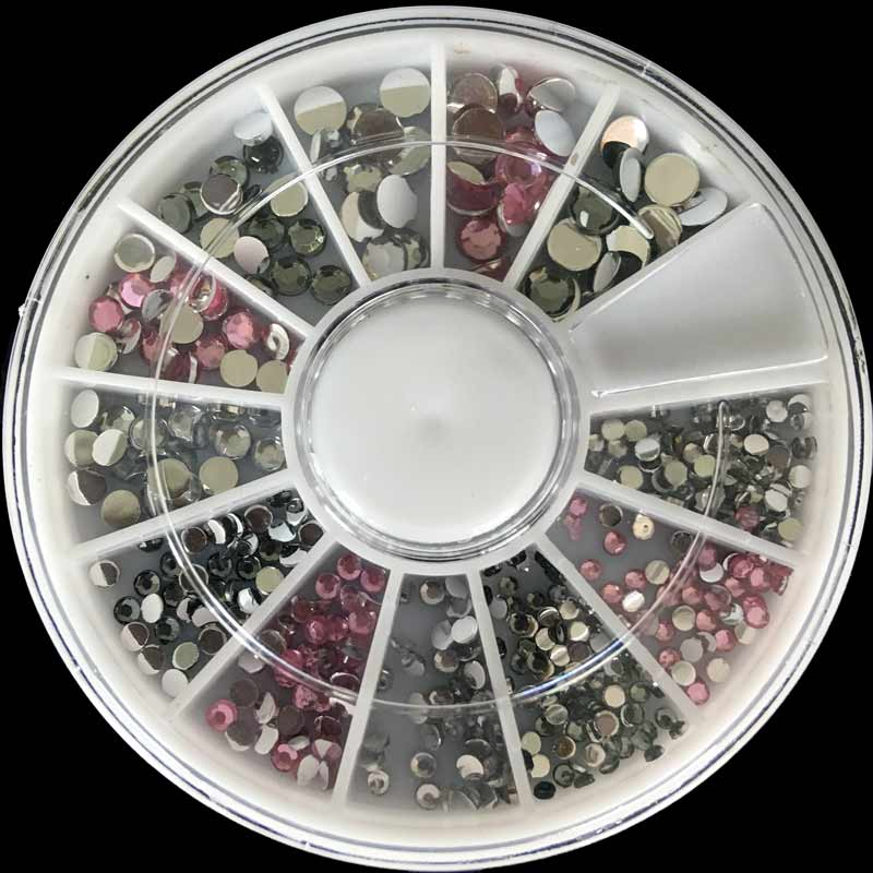 1Box Nail Art Tips Crystal Glitter Rhinestone for Nails Design Wheel Charms  3D Nail Art Decorations Supplies Nails Accessoires-in Rhinestones    Decorations ... 5ad94c386907
