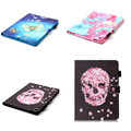 YB-Skull Butterfly Skin With TPU Back Shell Cover Painting For Apple iPad Pro 9.7'' Case PU Leather For New iPad Pro 9.7 Case