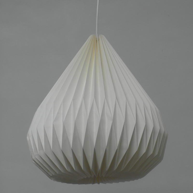 Hanging Origami Modern White Paper Pendant Lamp DIY Handmade Lantern Folding For Bedroom Ball Decoration In Lights From