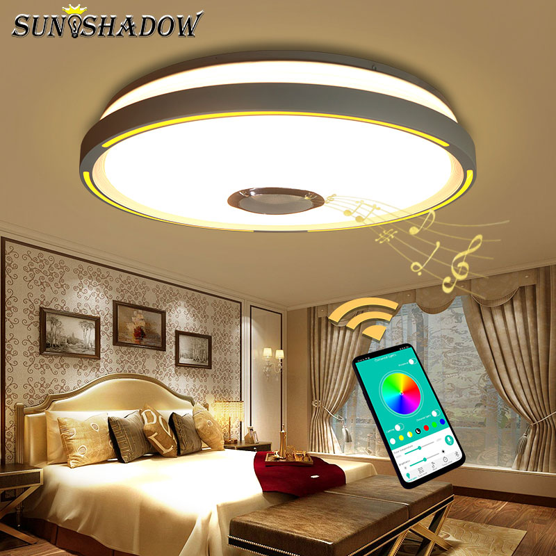 RGB Led Chandelier For Living room Bedroom Kitchen Modern Led Ceiling Chandelier Lighting Bluetooth Lights Music
