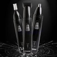 3in1 Electric Eyebrow Nose Ear Hair Trimmer Beard Shaver Grooming Clipper