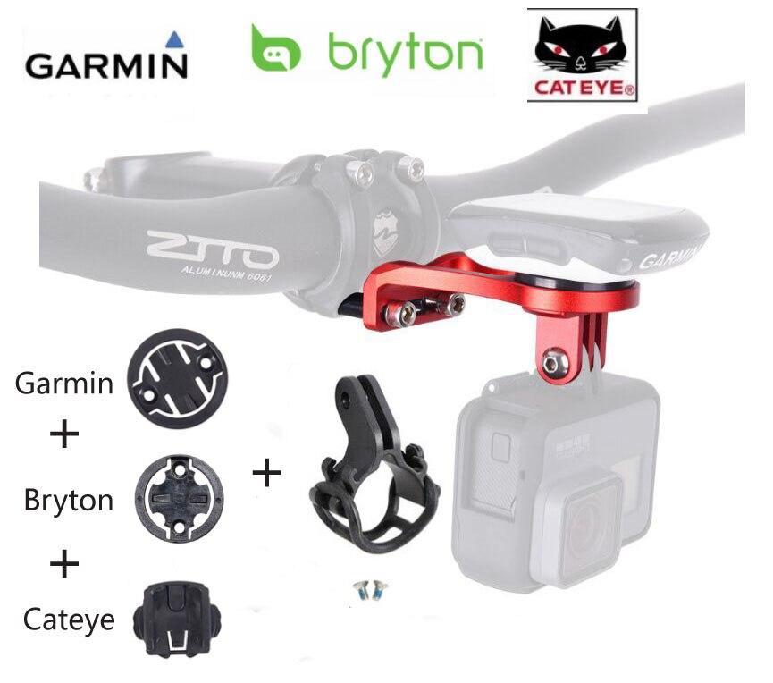 3 estilos para Garmin Cateye Bryton Rider Mount Holder Road/MTB ciclismo bicicleta ordenador GPS Edge fijo iGPSPORT Cámara