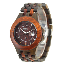 BEWELL Wood Watch Men Quartz Movement Clock Wooden Wristwatch Man Fashion and Casual Watches 080A